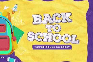 Back To School Yellow Title Church Video
