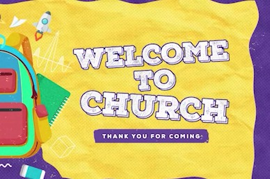 Back To School Yellow Welcome Church Video