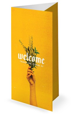 Generous Flowers Church Trifold Bulletin