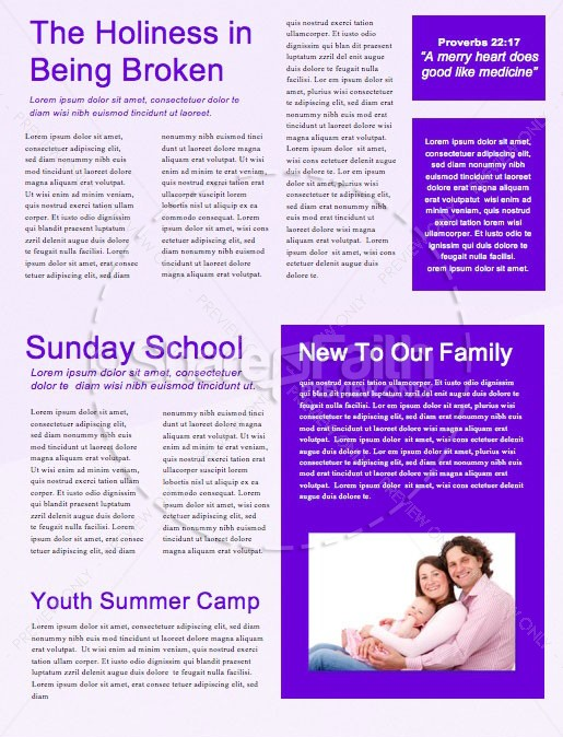 Do Good Purple Church Newsletter