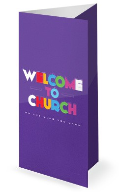 Do Good Purple Church Trifold Bulletin