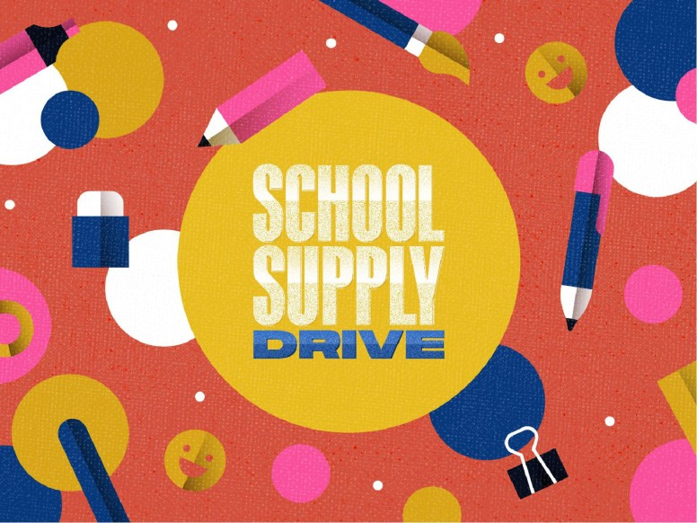 School Supply Drive Pencil Church PowerPoint