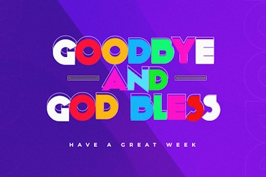 Do Good Purple Goodbye Church Video