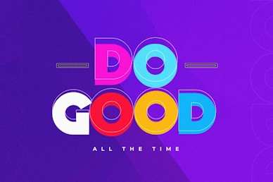 Do Good Purple Title Church Video