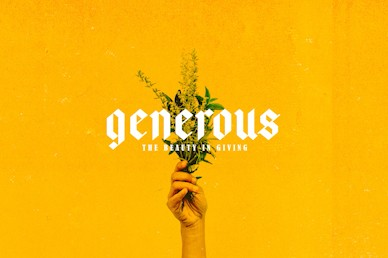 Generous Flowers Title Church Video