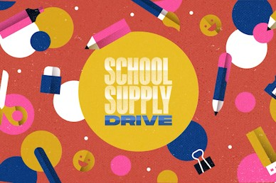 School Supply Drive Title Church Video