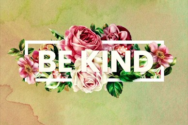 Be Kind Rose Title Church Motion Graphic
