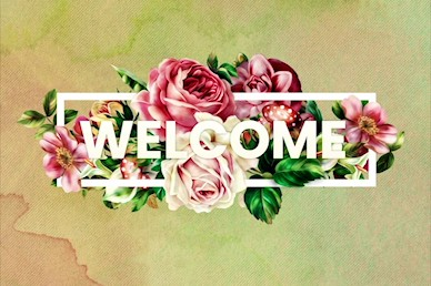 Be Kind Rose Welcome Church Motion Graphic