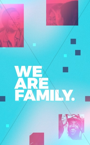 We Are Family Church Bifold Bulletin