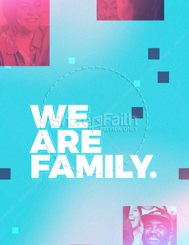 We Are Family Church Flyer