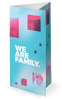 We Are Family Church Trifold Bulletin