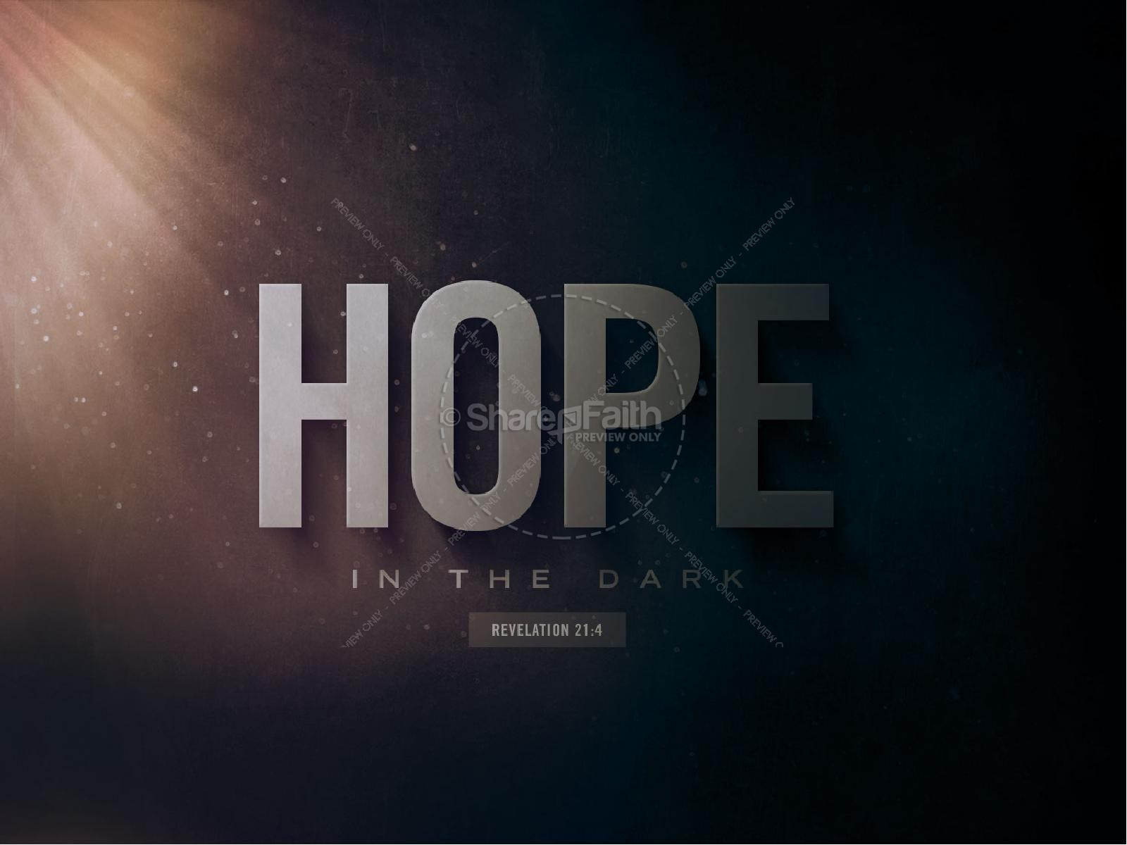 Hope In The Dark Church PowerPoint