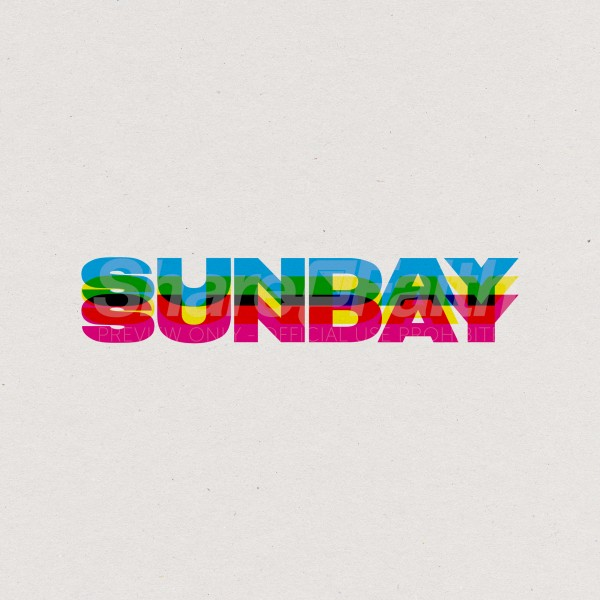 Sunday Rainbow White Social Media Graphic