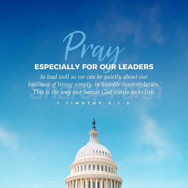 Pray For Leaders Social Media Graphic
