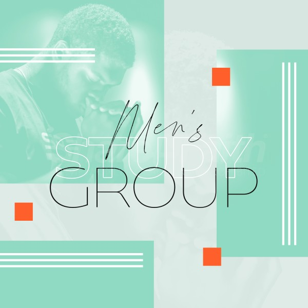 Men's Study Group Green Social Media Graphic