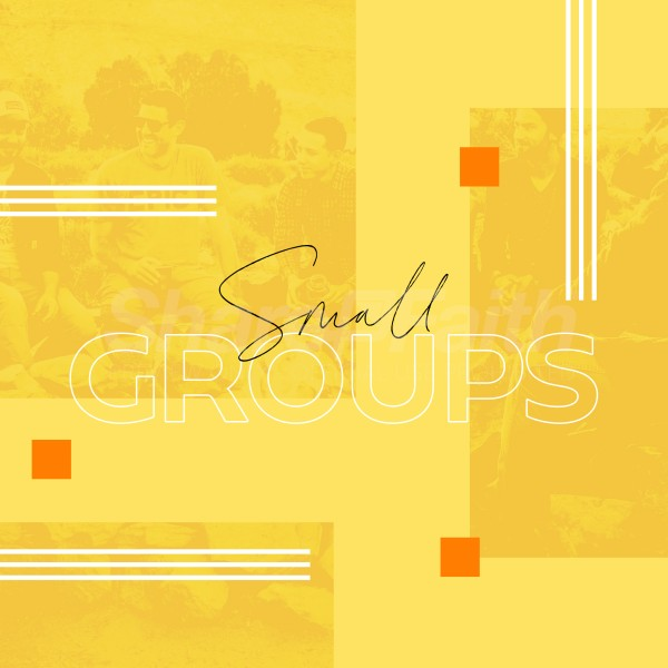 Small Group Yellow Social Media Graphic