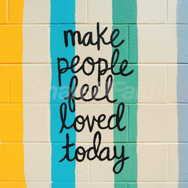Feel Loved Rainbow Social Media Graphic