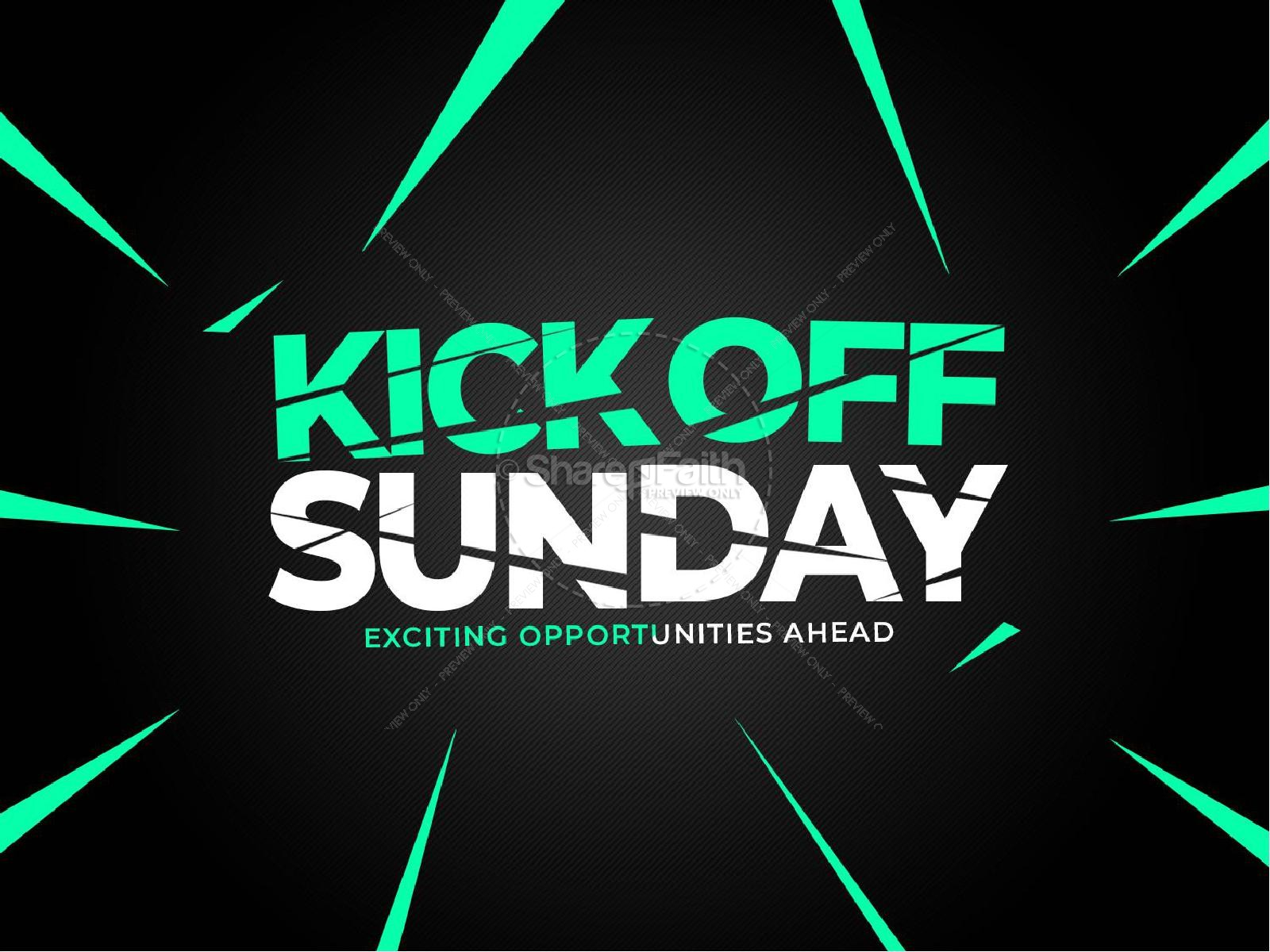Kick Off Sunday Green Church PowerPoint