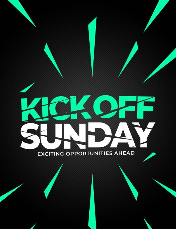 Kick Off Sunday Green Church Flyer