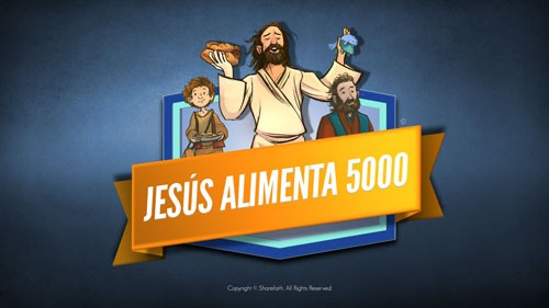 Jesus Feeds 5000 Bible Video para niños