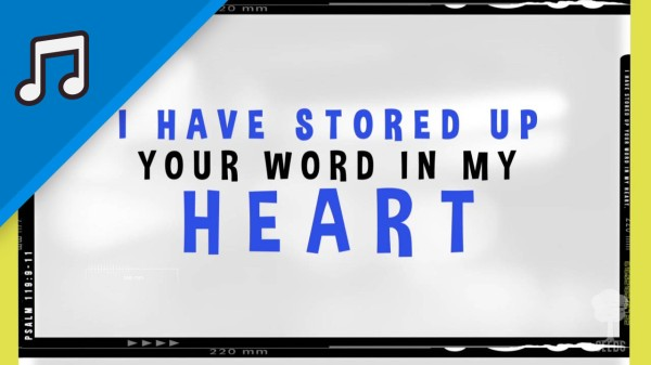 Your Word In My Heart Kids Worship Video for Kids Instrumental