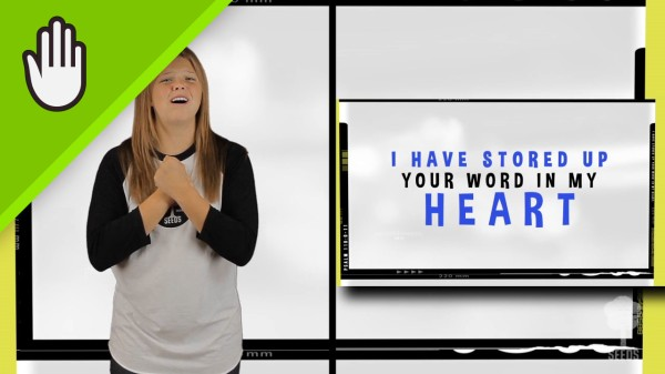 Your Word In My Heart Kids Worship Video for Kids Hand Motions Split Screen