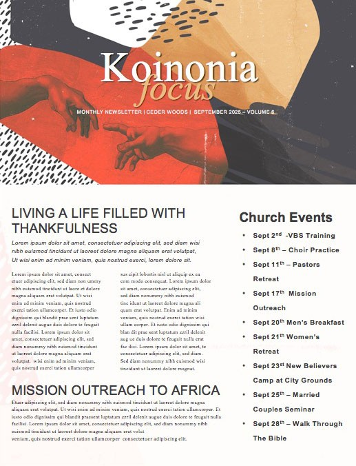 Imago Dei Church Newsletter