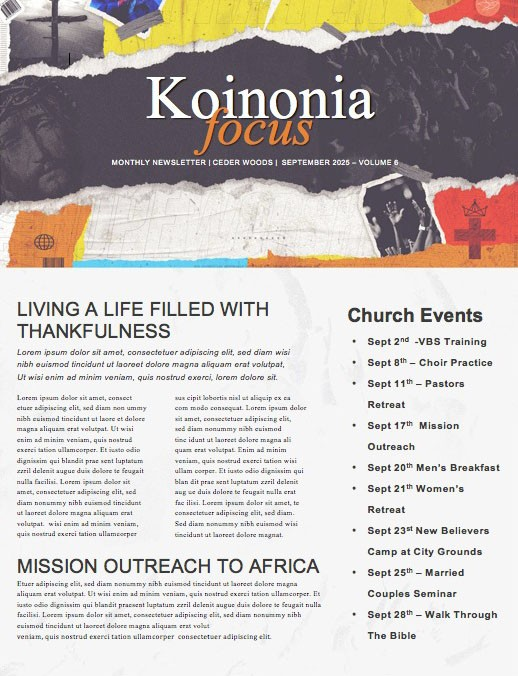 Revival Church Newsletter