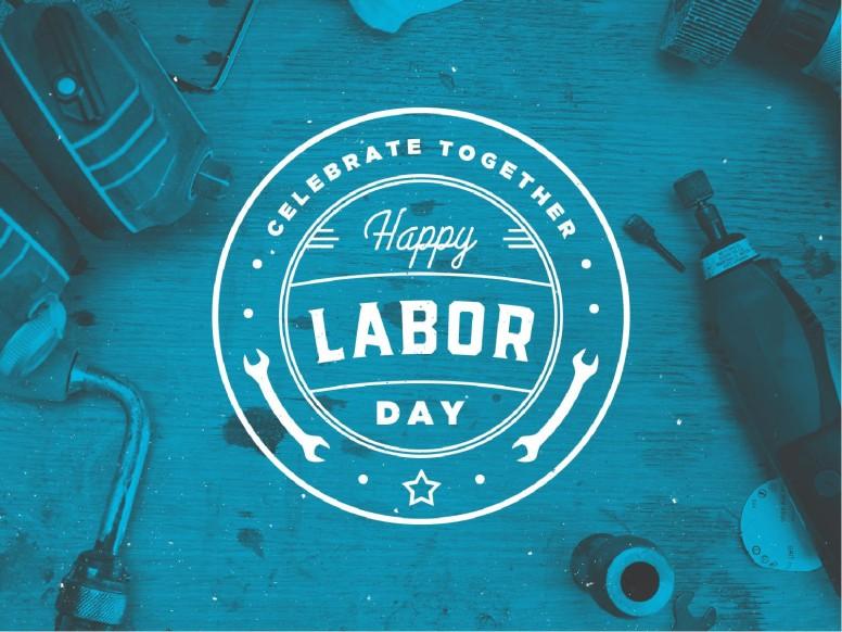Blue Labor Day Church PowerPoint