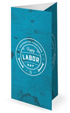 Blue Labor Day Trifold Church Bulletin
