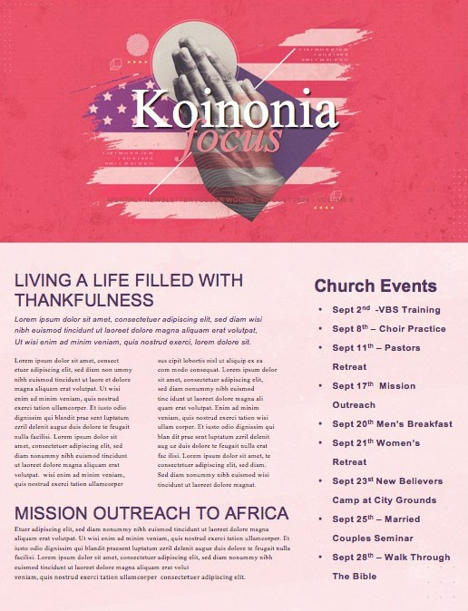 Red See You At The Pole Church Newsletter