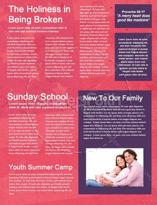Red See You At The Pole Church Newsletter | page 2