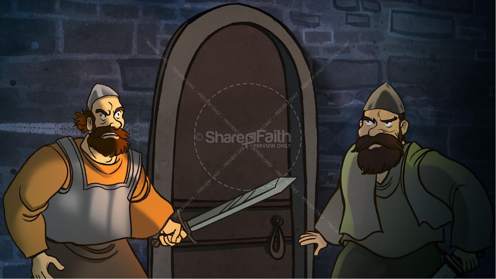 1 Samuel 18 19 David, Saul, & Jonathan Kids Bible Story   slide 14