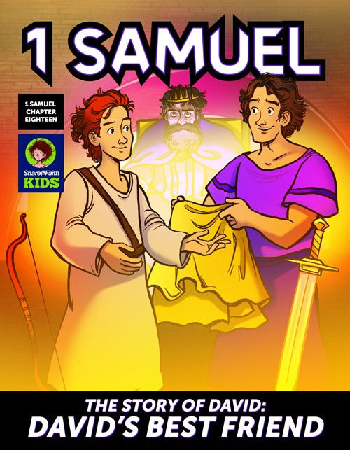 1 Samuel 18 19 David, Saul, & Jonathan Digital Comic