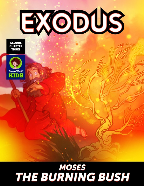 Exodus 3 Moses The Burning Bush Digital Comic