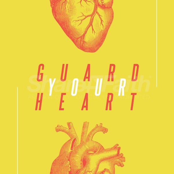 Guard Your Heart Yellow Social Media Graphic