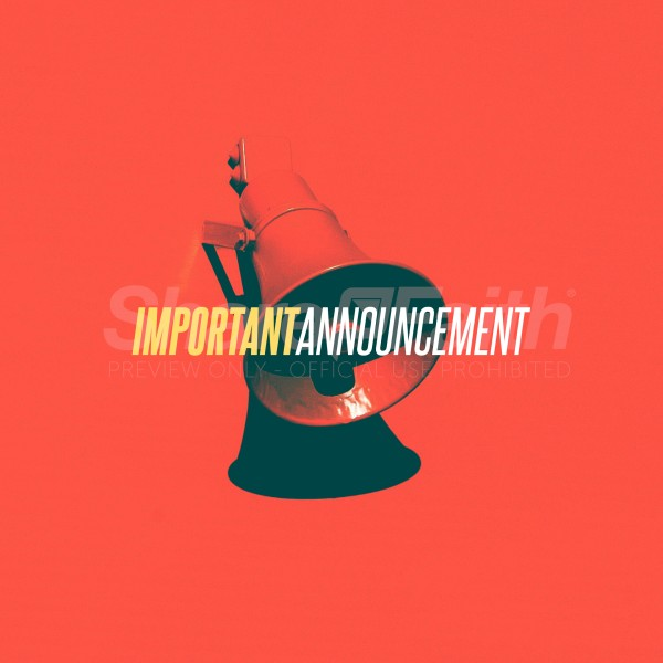 Important Announcement Red Social Media Graphic