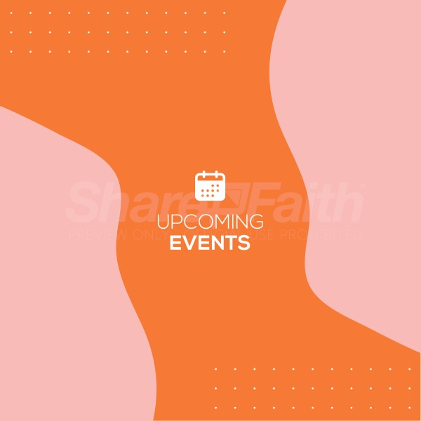 Upcoming Events Pink Social Media Graphic