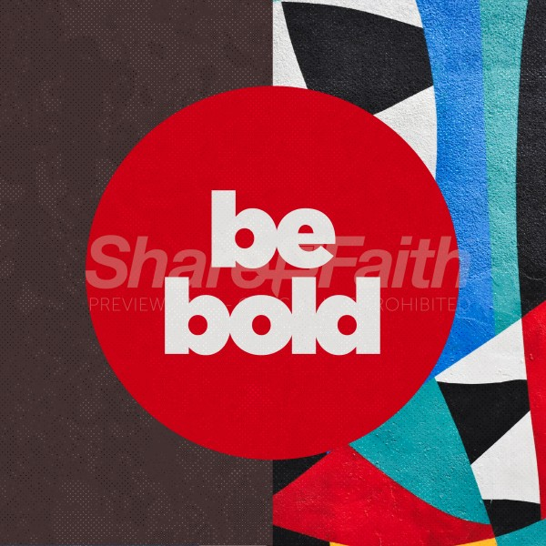 Be Bold Abstract Social Media Graphic