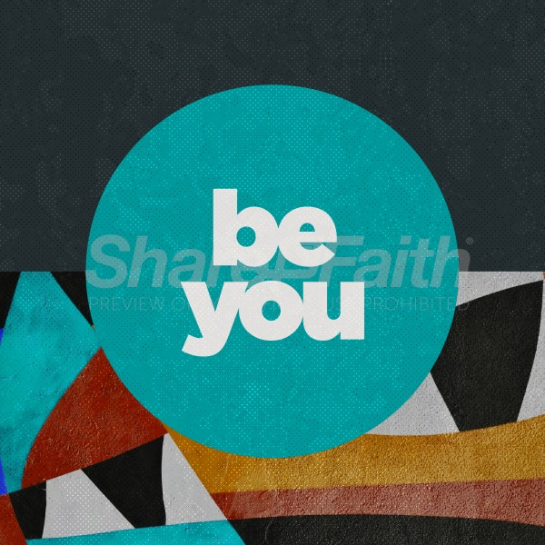 Be You Abstract Social Media Graphic
