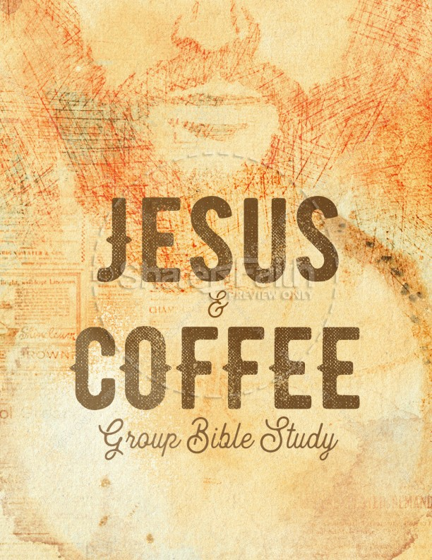 Jesus And Coffee Church Flyer