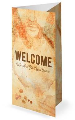 Jesus And Coffee Church Trifold Bulletin