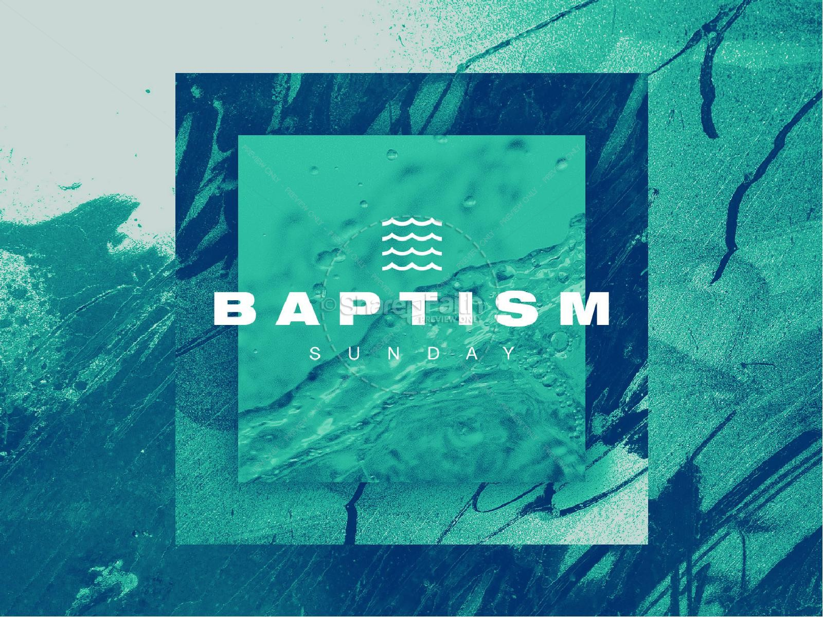 Baptism Sunday Green Church PowerPoint | slide 1