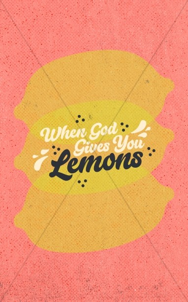 When God Gives You Lemons Church Bifold Bulletin