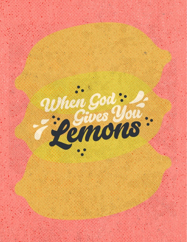 When God Gives You Lemons Church Flyer
