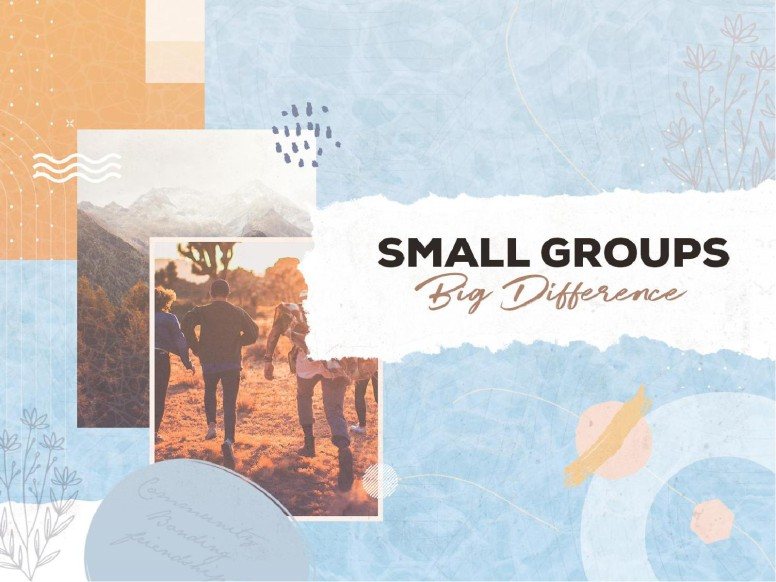 Small Groups Big Difference Church PowerPoint