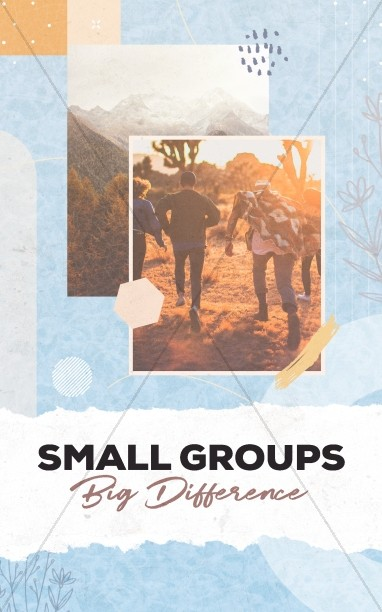 Small Groups Big Difference Bifold Bulletin
