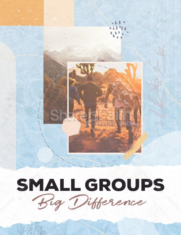 Small Groups Big Difference Church Flyer