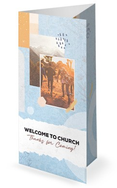 Small Groups Big Difference Church Trifold Bulletin