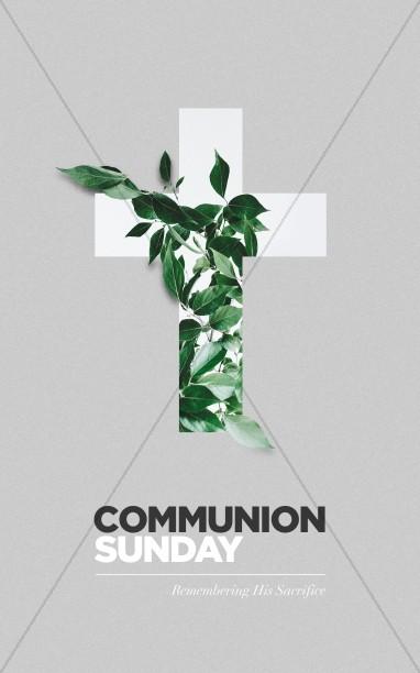Communion Sunday Cross Bifold Bulletin